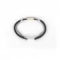 내셔널 퍼블리시티() LEATHER CHAIN BRACELET_BLACK