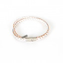 내셔널 퍼블리시티() LEATHER BRAID BRACELET_WHITE