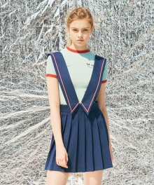 SUSPENDER SKIRTS [NAVY]