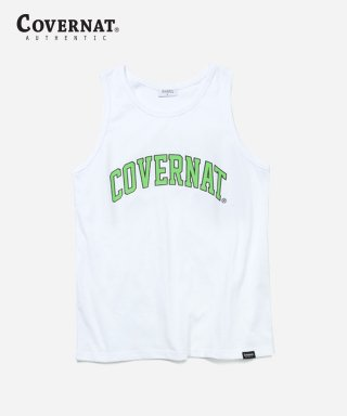 커버낫(covernat) S/S ARCH LOGO SLEEVELESS TOP WHITE / GREEN