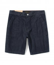 denim pocket short pants indigo