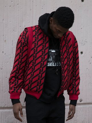 킬리자로(kilijaro) PATTERN REPEAT TERRY JACKET - RED