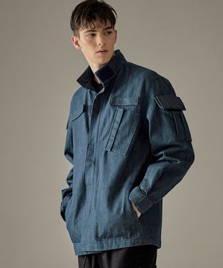 킬리자로(kilijaro) MILITARY MARCH JACKET - BLUE