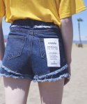 로라로라(ROLAROLA) (PT-18303)DAMAGED CUTTING SHORT PANTS BLUE