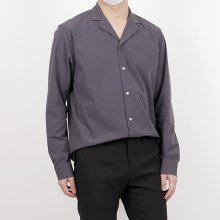 Unique material open collar shirts