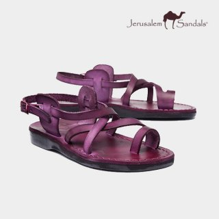예루살렘 샌들(jerusalemsandals) NO.6 THE GOOD SHEPHERD (BUCKLED) PURPLE