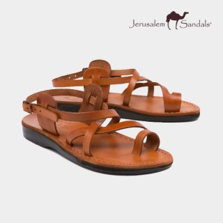 예루살렘 샌들(jerusalemsandals) NO.6 THE GOOD SHEPHERD (BUCKLED) HONEY