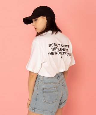 레이든(layden) NOBODY KNOWS S/S TEE-WHITE