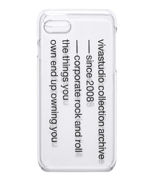 비바스튜디오(VIVASTUDIO) SLOGAN PHONE CASE HS [CLEAR]