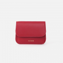 살랑() Dijon N301R Round Card Wallet cherry red