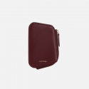 살랑() Reims Pebble Card Wallet burgundy
