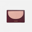 살랑() half circle card two-tone burgundy