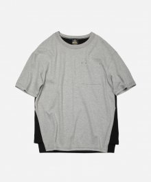 SEPARATE COLOR TEE _ GRAY
