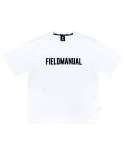 필드매뉴얼(FIELDMANUAL) LOGO TEE white