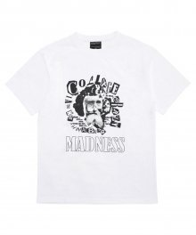 [18SS] MADNESS COLLAGE T-SHIRT - WHITE