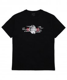 [18SS] MADNESS DOODLE T-SHIRT - BLACK