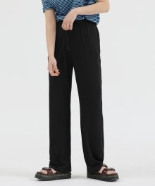 R UNISEX WIDE PANTS BLACK