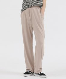R UNISEX WIDE PANTS BEIGE