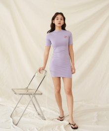 RR ROGO PRINTING ONE-PIECE VIOLET