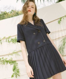 Sailor Stitch Dress_Navy
