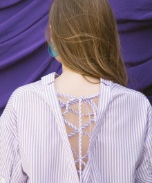 Back String Blouse_Lavender