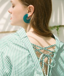Back String Blouse_Green