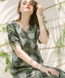 Forest Vacance Dress_Khaki