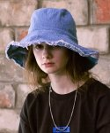 슬리피슬립(SLEEPYSLIP) [unisex]REVERSIBLE DENIM BUCKET HAT
