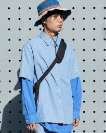 Basic Silhouette Denim Shirt( Light Indigo)
