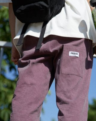 쵸이지(choisi) Droop Pocket Detail Pants (Purple)