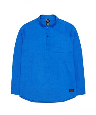 디시브(desxxve) SIGNATURE TWO SNAP LINEN COBALT BLUE