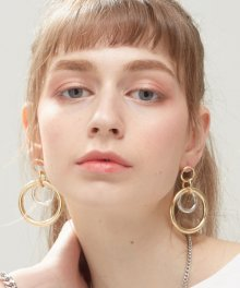 Round bold ring earrings