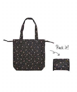 위크에이드(weekade) BOTANICAL ISLAND BAG_Black flower