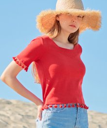 monts723 tassel knitwear (red)