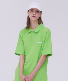 2F studio R neck top_ygreen