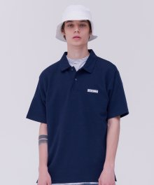 2F studio R neck top_navy