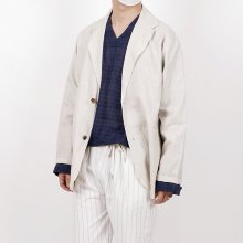 Summer Two Button Linen Jacket