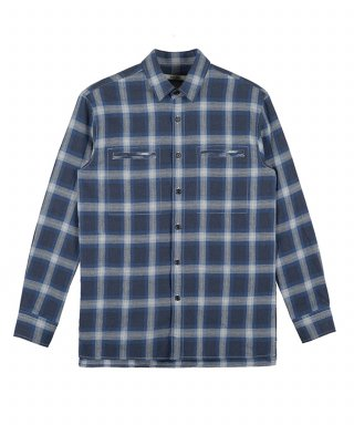 벨리에(belier) Hidden Pocket Shirt - Blue Check