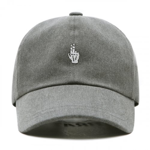 FINGER BALL CAP (WASHING GRAY)