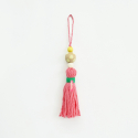 아포코팡파레(APOCOFANFARE) colorful wood tassel - pink