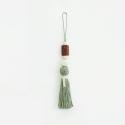 아포코팡파레(APOCOFANFARE) natural wood tassel - khaki