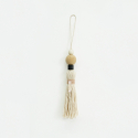 아포코팡파레(APOCOFANFARE) natural wood tassel - ivory