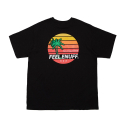 필이너프() SUNSET T-SHIRTS BLACK