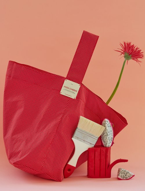 Pin Dots Eco Bag_Red