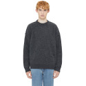 랩101() CHARCOAL NOMAD REVERSED CREW SWEATER