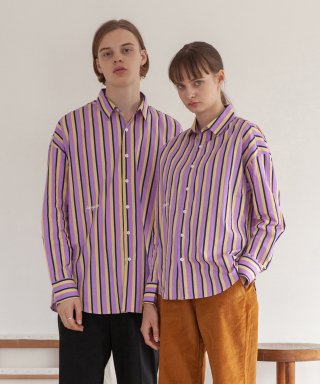 타게토(targetto) STRIPE SHIRT_PURPLE
