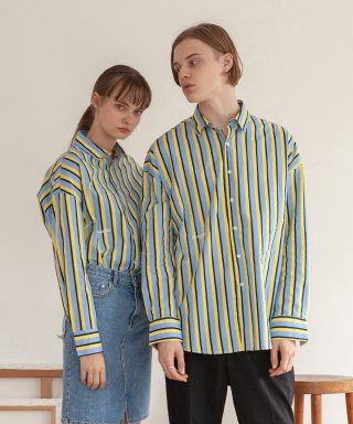 타게토(targetto) STRIPE SHIRT_SKY