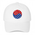 바이브레이트(vibrate) KOREAN FLAG LOGO BALL CAP (WHITE)