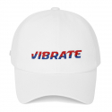 바이브레이트(vibrate) TWO TONE LOGO BALL CAP (WHITE)