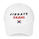 바이브레이트(vibrate) SEOUL KOREAN FLAG BALL CAP (WHITE)